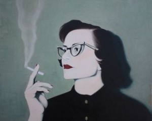 Smoking Woman - oil on canvas