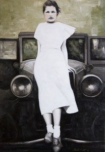 Noni in a White Dress - oil on canvas 24x30