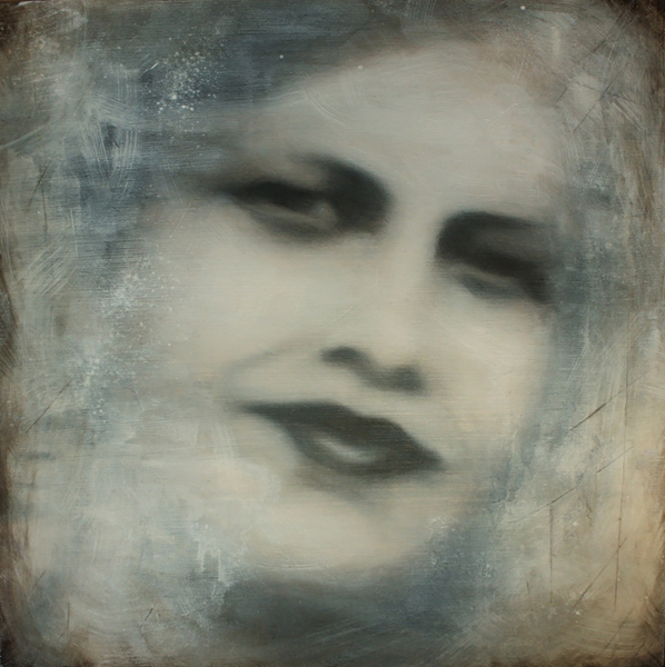 Eldoris - mixed media on wood panel 10x10