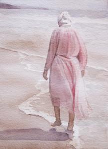 A Walk on the Beach - 5x7