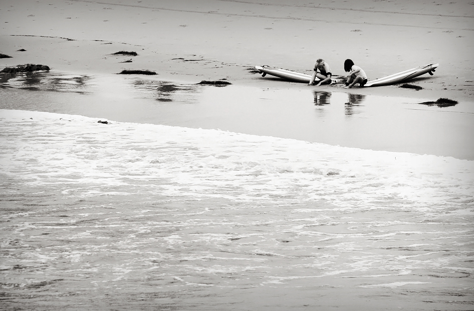 Playing Ocean Beach