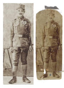 Photo Restoration of Soldier for Biography