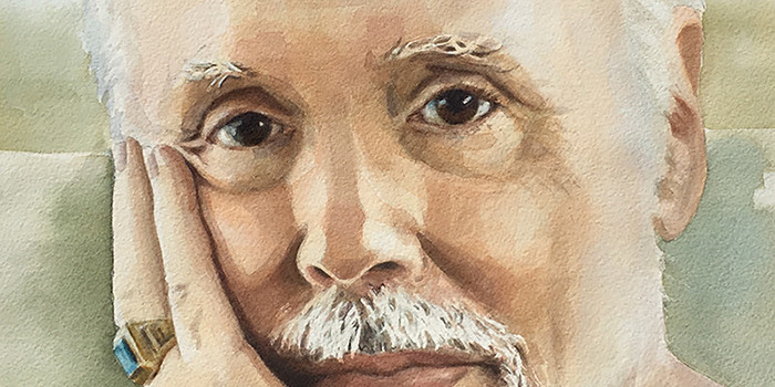 Watercolor Portrait of Peter Jacoby