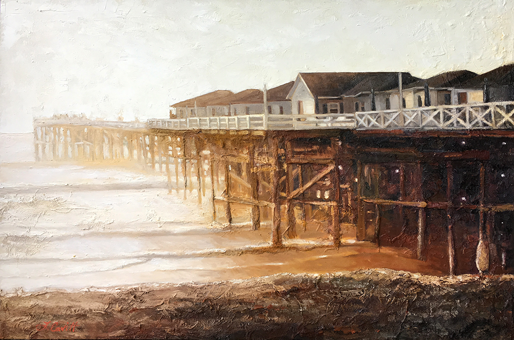 Crystal Pier Painting--oil on canvas