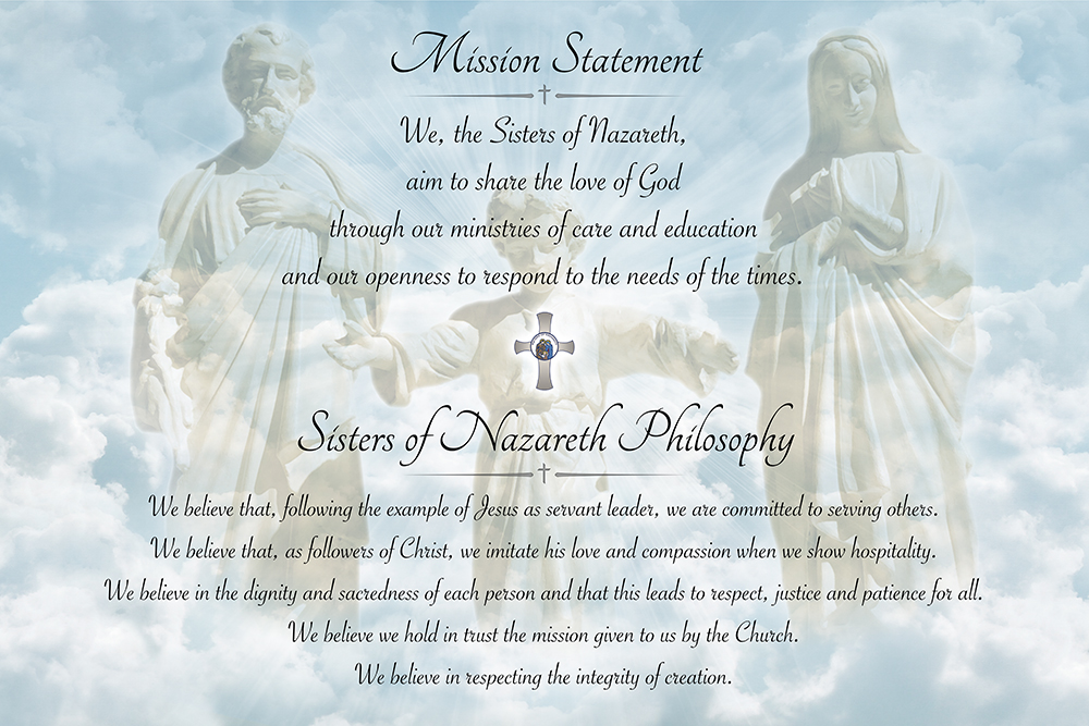 Nazareth Mission Statement Poster