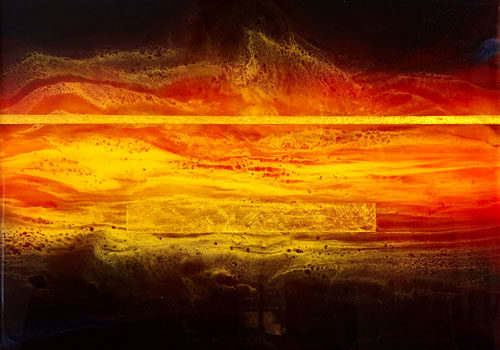 Fire — Resin Painting