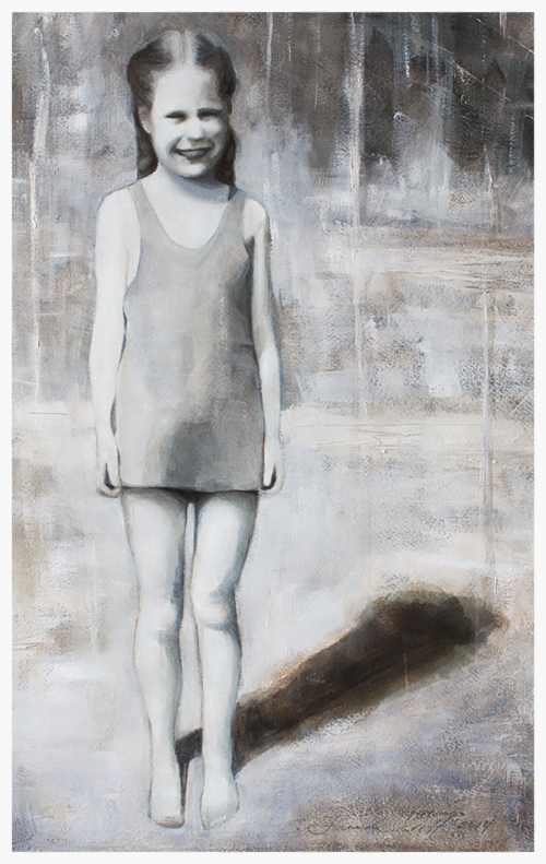 Jan in the Summertime - watercolor