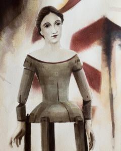 Dressmakers Doll - Civil War era