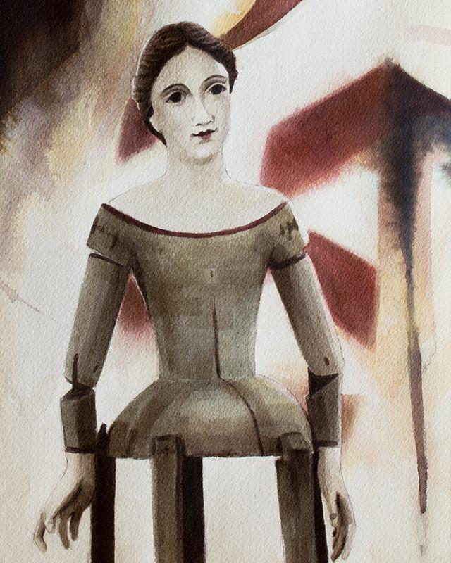 Dressmakers Doll - Civil War 8x10