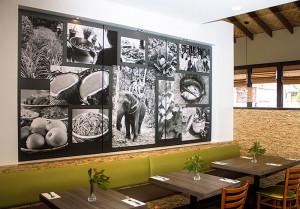 Restaurant Centerpiece Display - installed