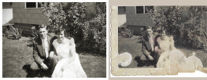 Photo Restoration of Couple for Biography