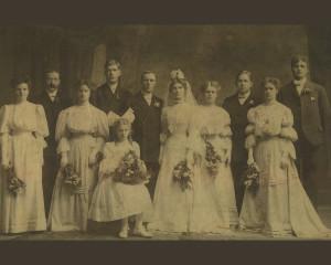 Nana's Wedding Photo Restoration (before)