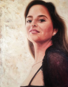 Oil on canvas--Portrait of Edith