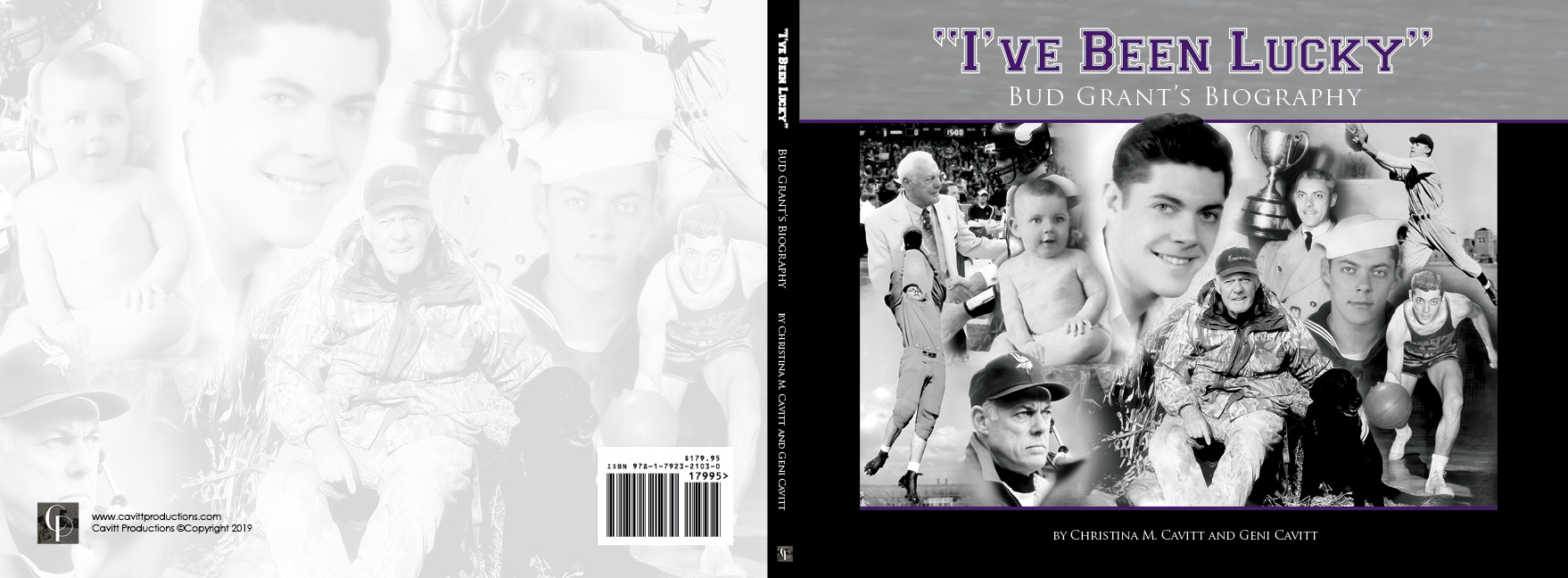 Bud Grant Biography-Book Cover Design