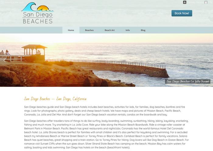 San Diego Beaches Website Redo - owned